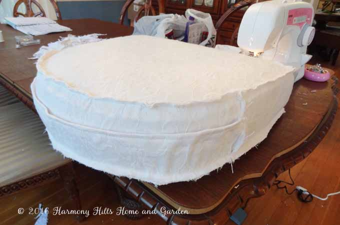 DIY Custom Slipcovers made from bedspreads - a great money saver!