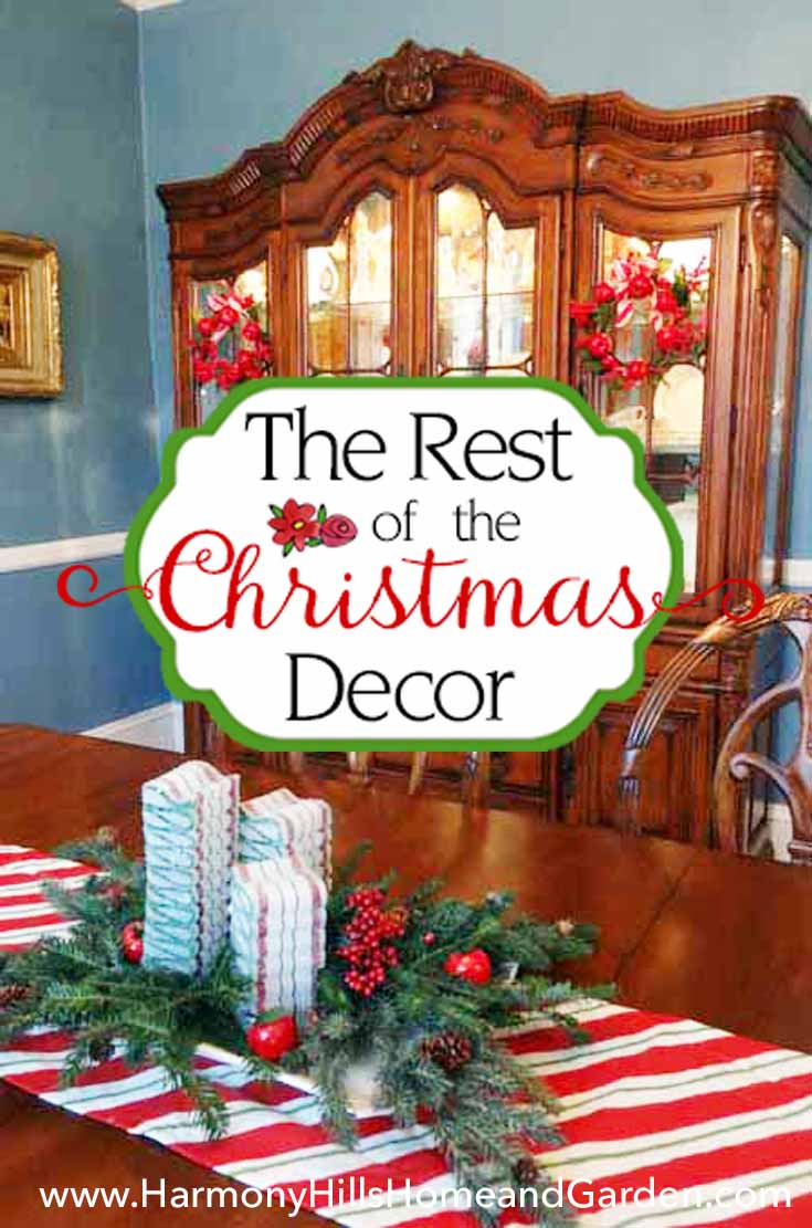 Christmas decor around the rest of the house 2016 - www.HarmonyHillsHomeandGarden.com