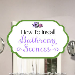 How to install bathroom sconces