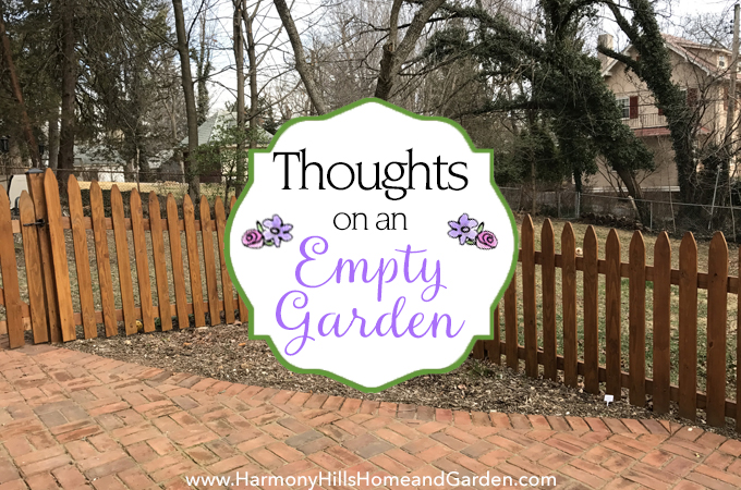 Thoughts on an Empty Garden - making plans for a welcoming, pretty entry garden