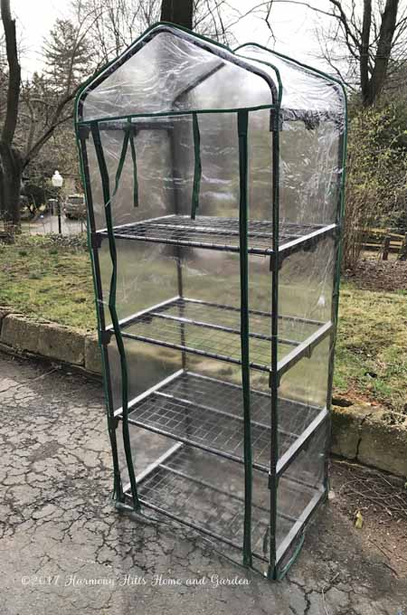 Gardman R687 Mini Greenhouse - an inexpensive solution for caring for your early-season plants - www.HarmonyHillsHomeandGarden.com