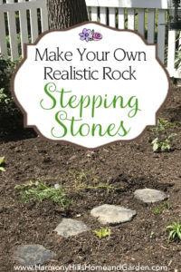 Make your own realistic rock stepping stones - Step by step guide! - www.HarmonyHillsHomeandGarden.com